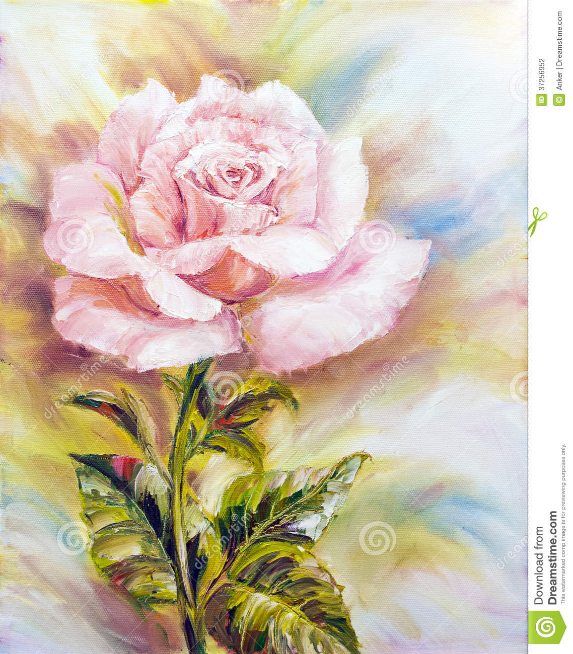 Beautiful rose oil painting stock illustration for Beautiful canvas painting