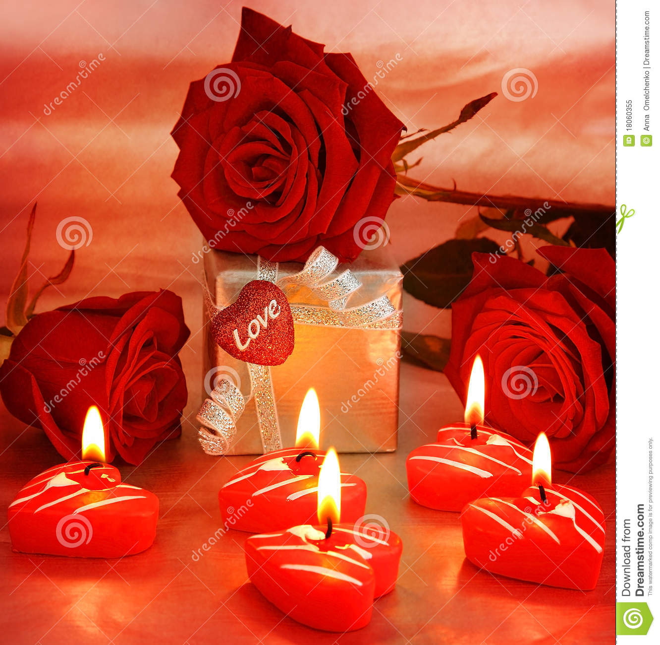 Beautiful roses with gift box heart stock image image of beautiful roses with gift box heart negle Choice Image