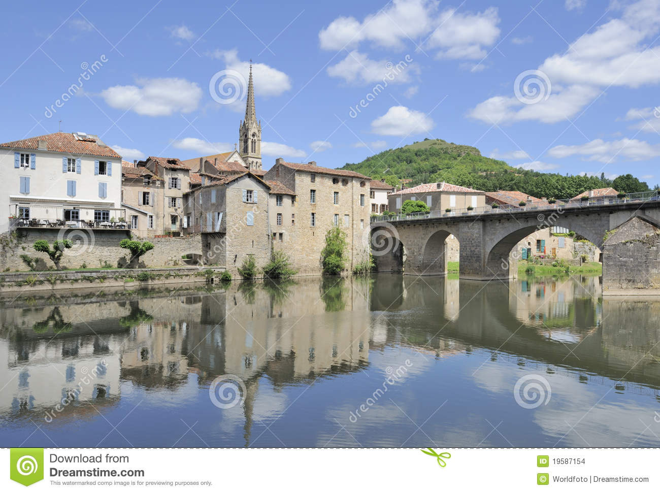 Beautiful rural french village stock images image 19587154 - Office tourisme st antonin noble val ...
