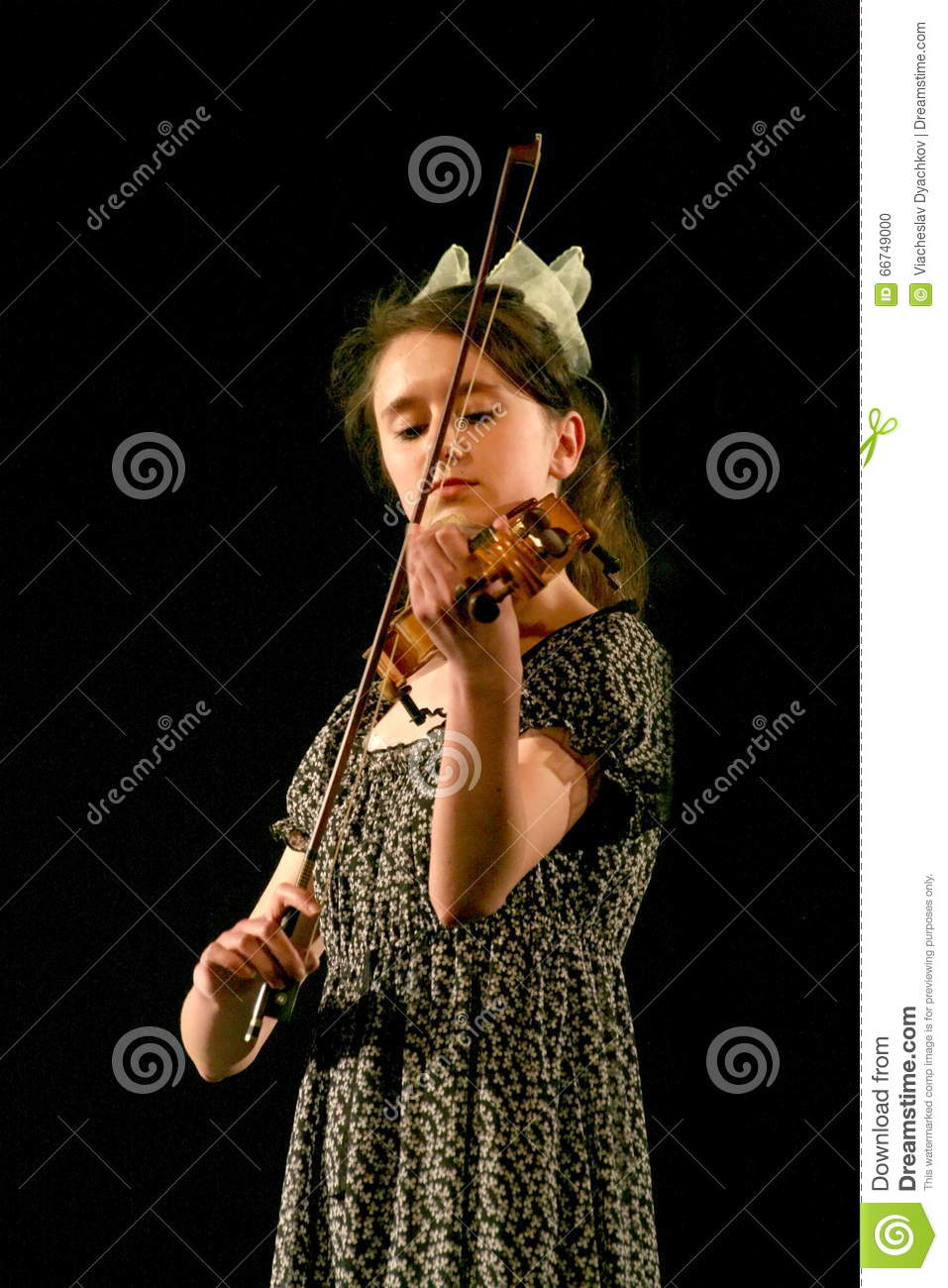 Beautiful Russian Jewish girl, a friend of the Soviet soldier playing the violin.