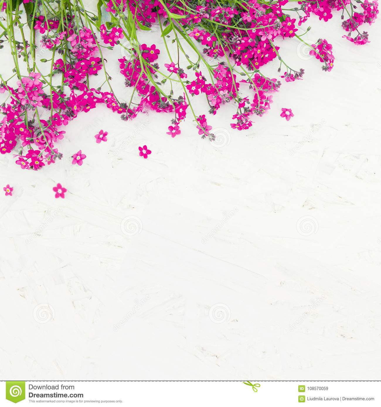 Beautiful Rustic Floral Background Stock Image Image Of