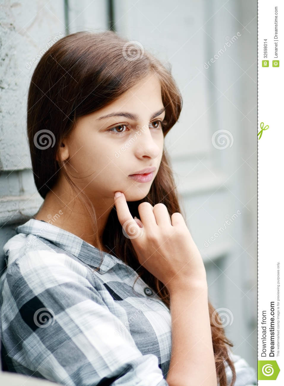 Beautiful sad girl stock photo image of expression Photo of a beautiful girl