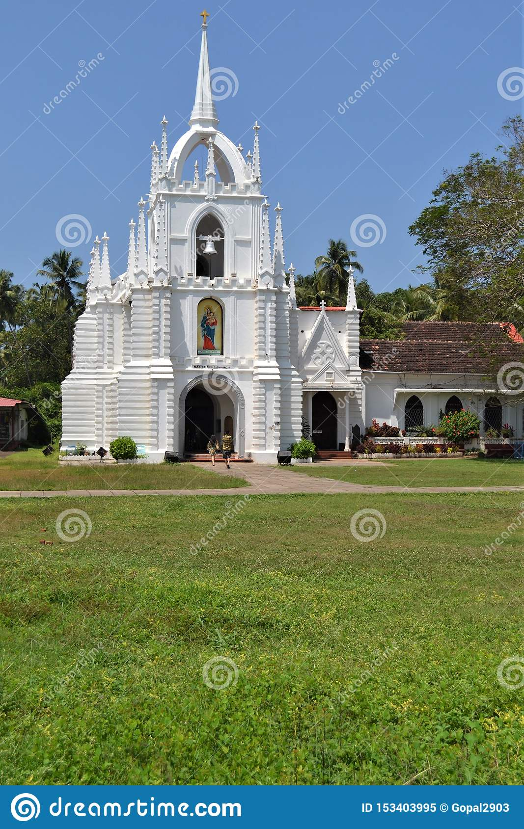 Beautiful church near Calangute beach in Goa
