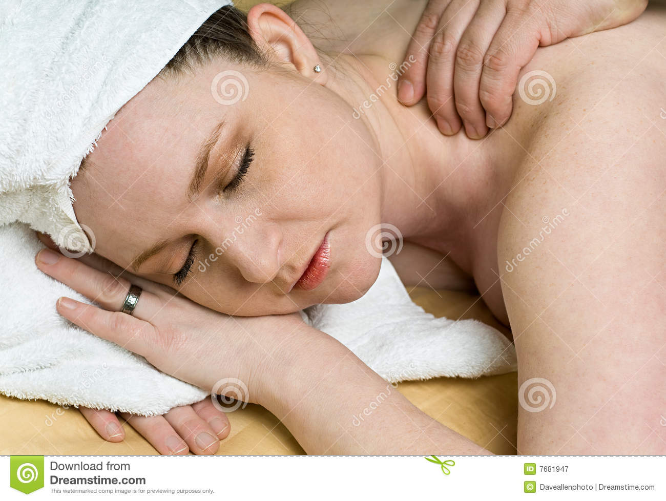 Royalty Free Stock Photography Beautiful Salon Woman Gets Massage Therapy Spa Image7681947 on office floor plans for massage therapy