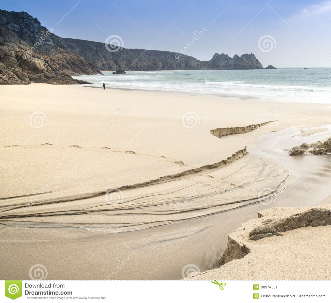 Sandy Beach: Beautiful Sandy Beach Landscape Stock Image