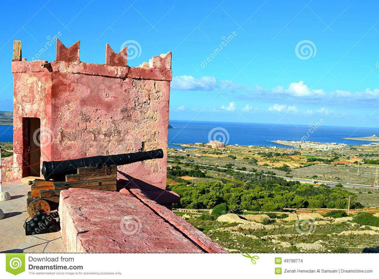 Beautiful Scene From The Red Tower North Of Malta Stock Photo - Image: 49798774