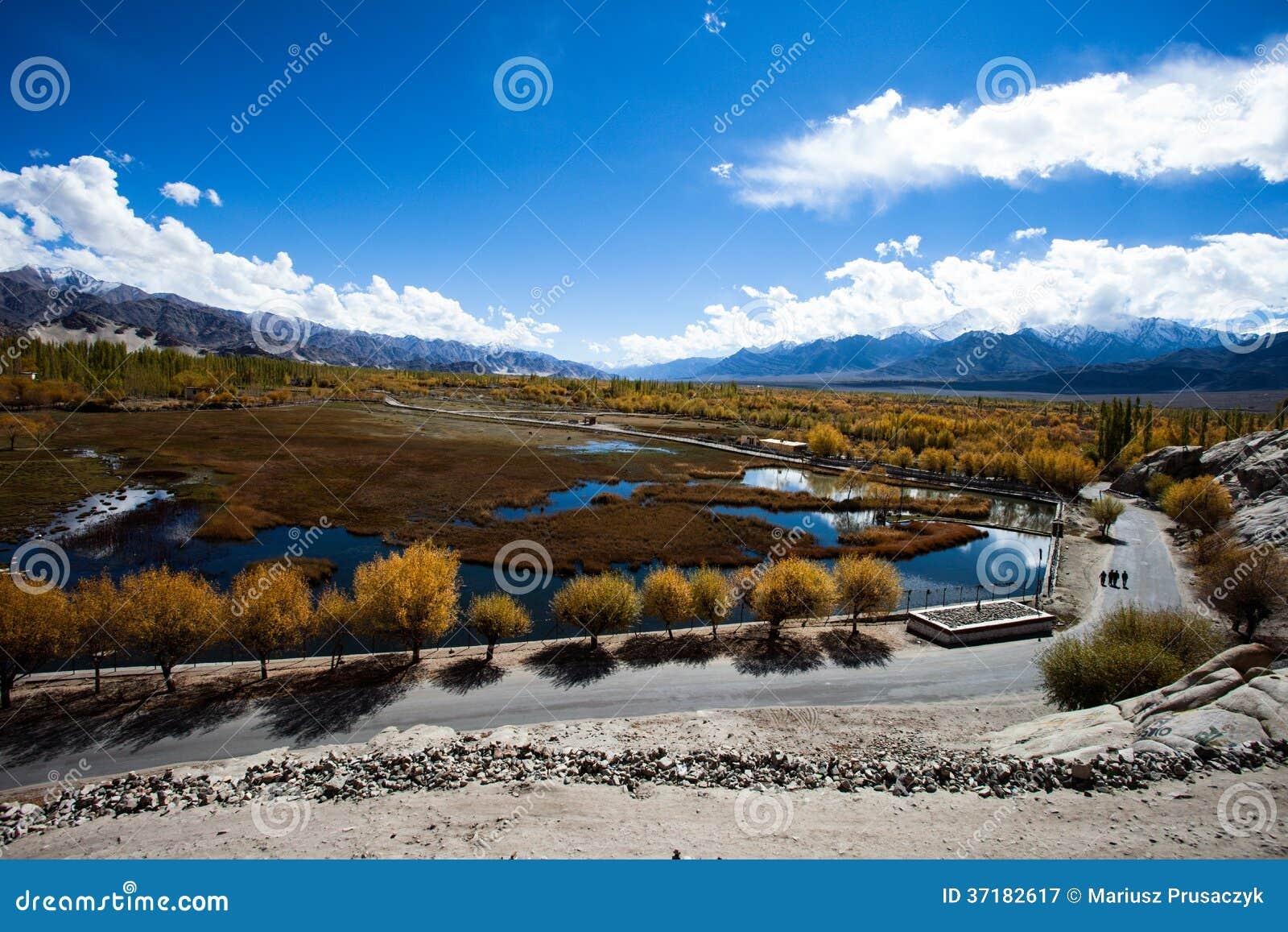 Beautiful scenery leh ladakh jammu and kashmir india royalty free stock photography