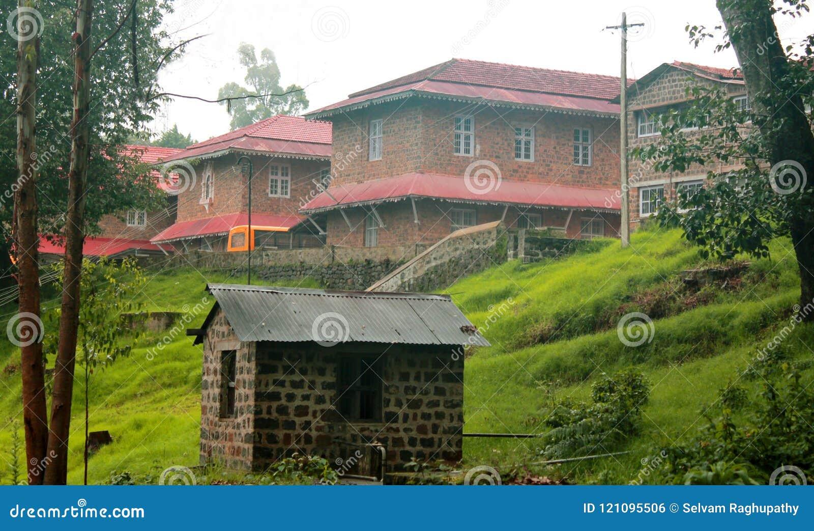 A Beautiful School Building In The Kodaikanal Tour Place  Stock