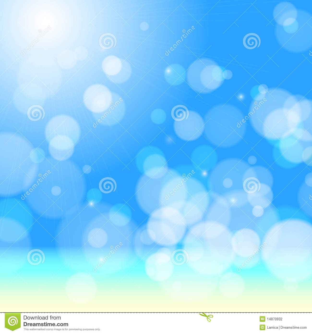 Background Of Blurred Beach And Sea Waves With Bokeh: Beautiful Sea Beach Bokeh Stock Photography