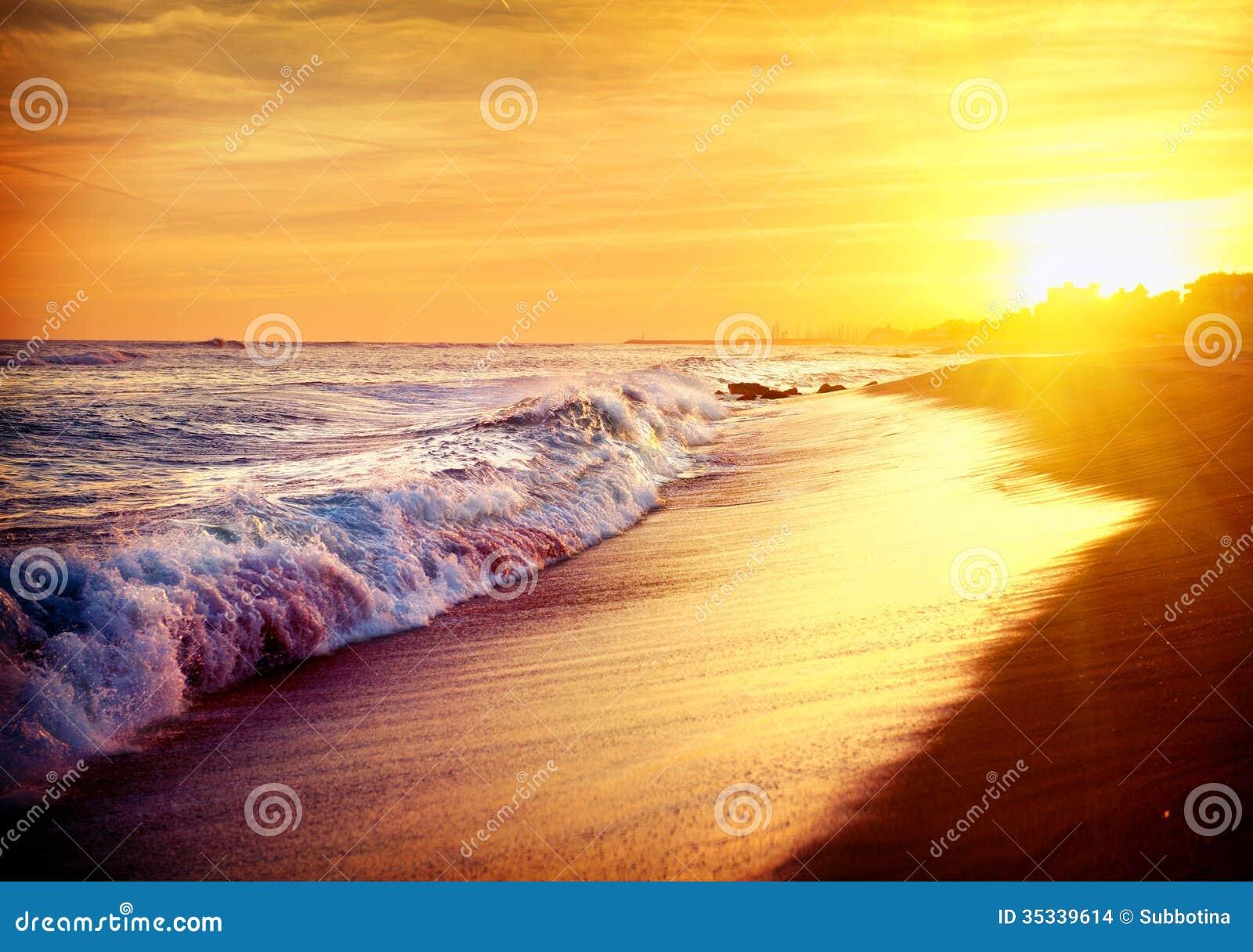 Beautiful Sea Sunset Beach