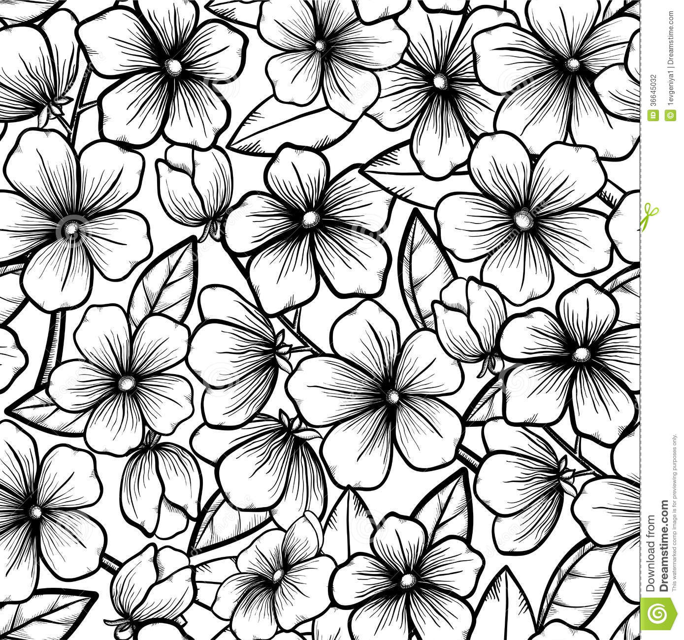 beautiful seamless background in black and white s stock