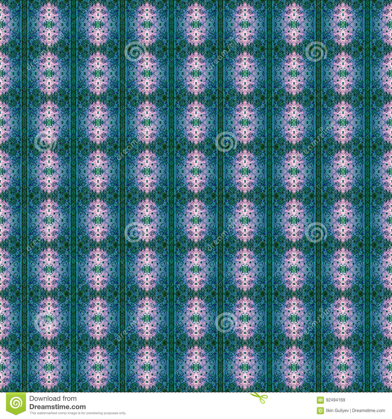 Beautiful seamless eastern carpet decoration pattern for Abstract decoration