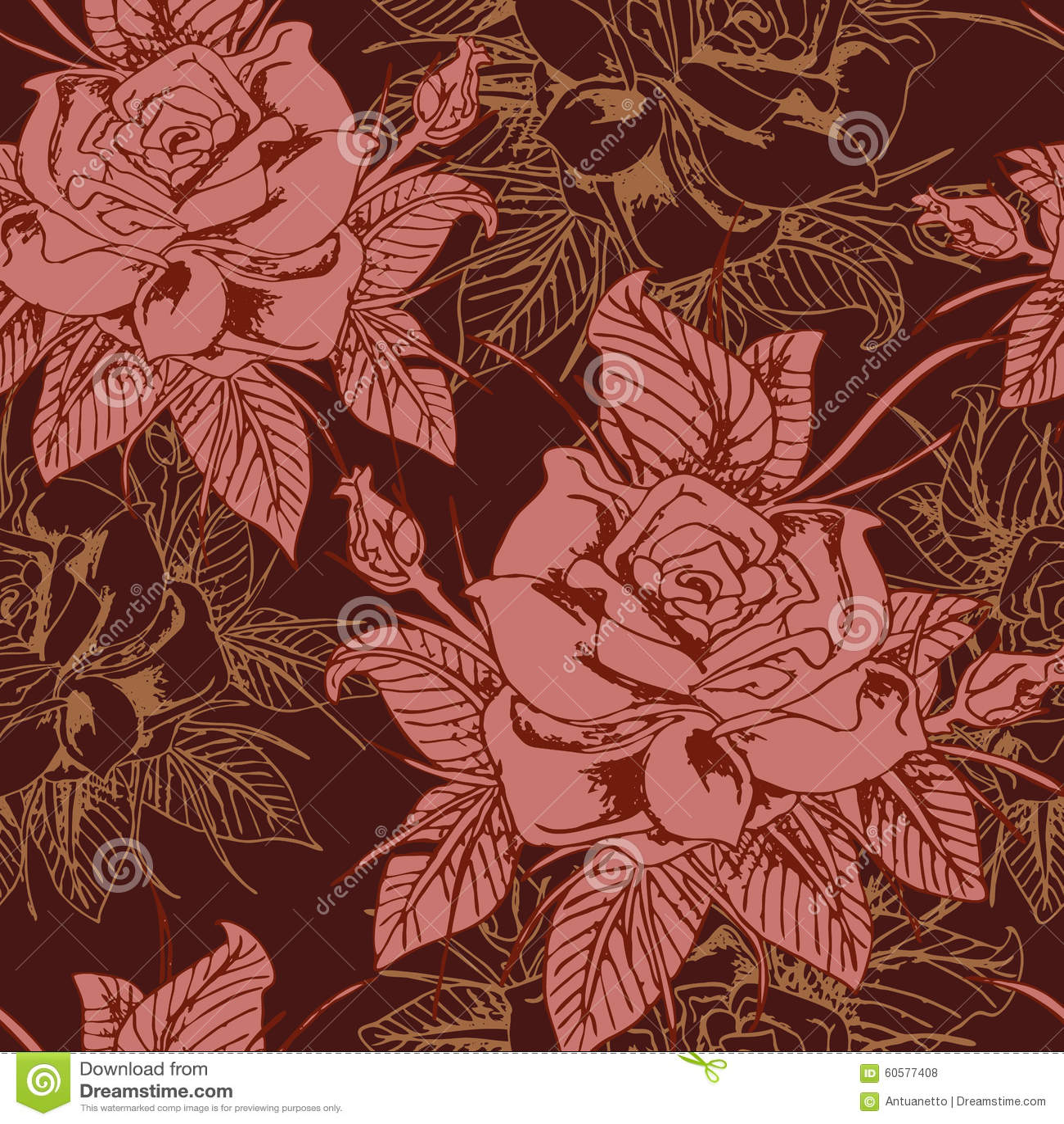 Beautiful seamless floral pattern, flower vector