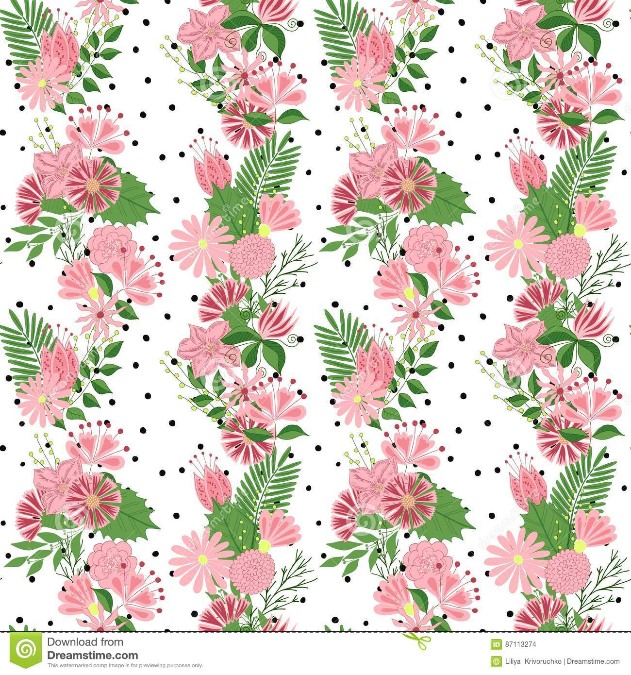 Cute spring flower - Beautiful Seamless Pattern In Small Abstract Flower Small Colorful Flowers Cute Simple Spring Flowers
