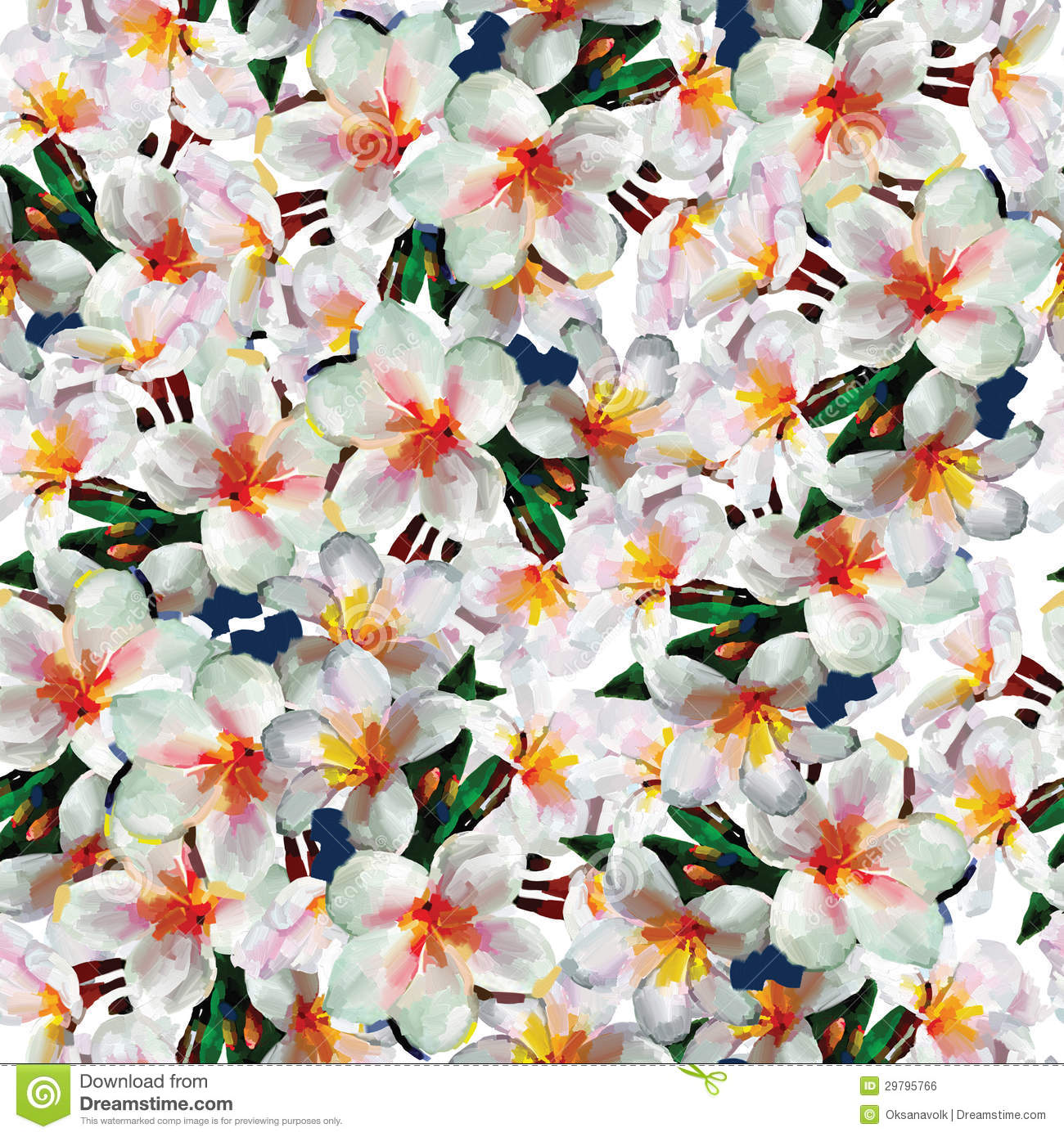 white exotic flowers seamless pattern background royalty free stock image image 29795766. Black Bedroom Furniture Sets. Home Design Ideas