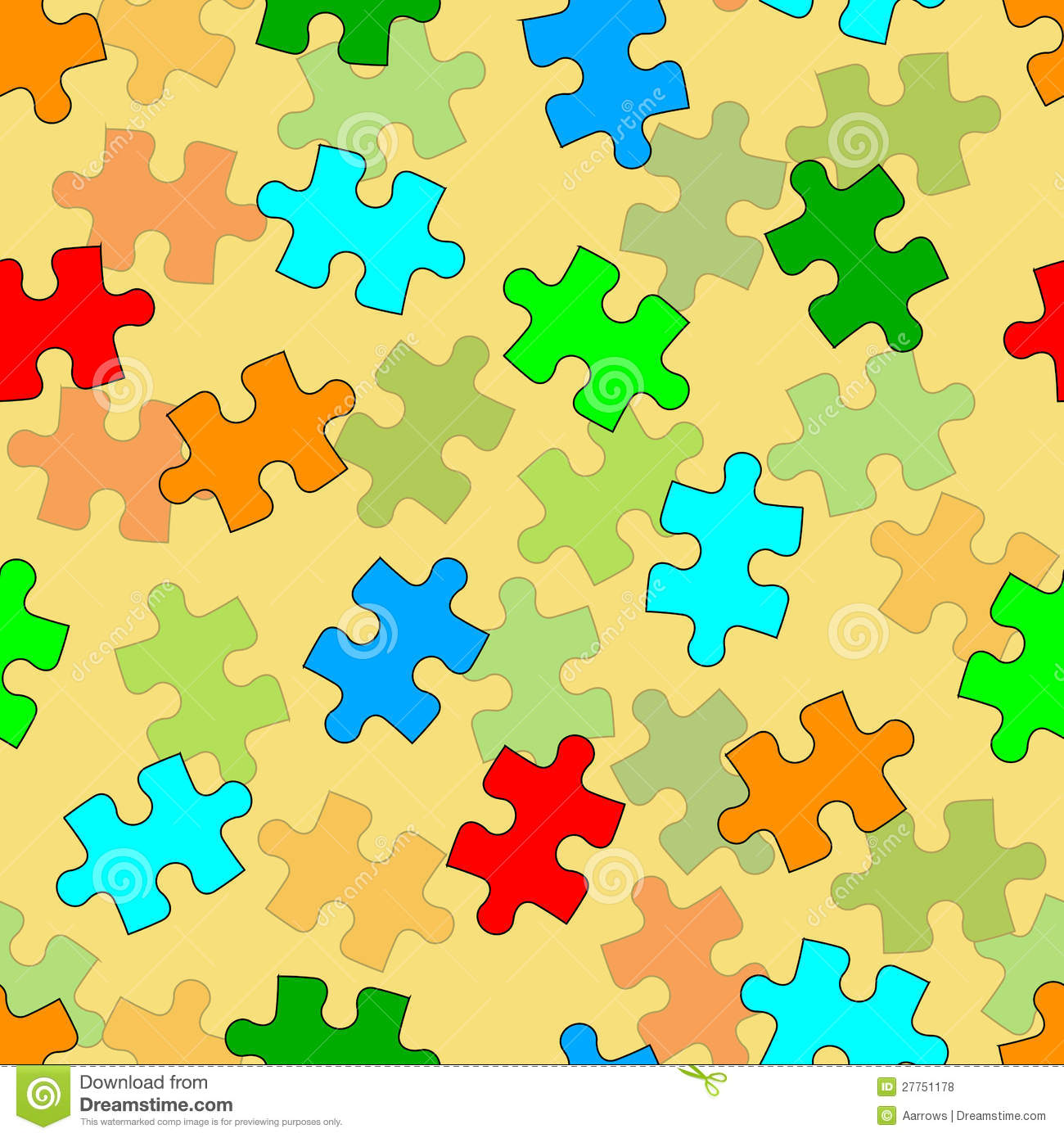 beautiful seamless wallpaper with jigsaw puzzle royalty free stock
