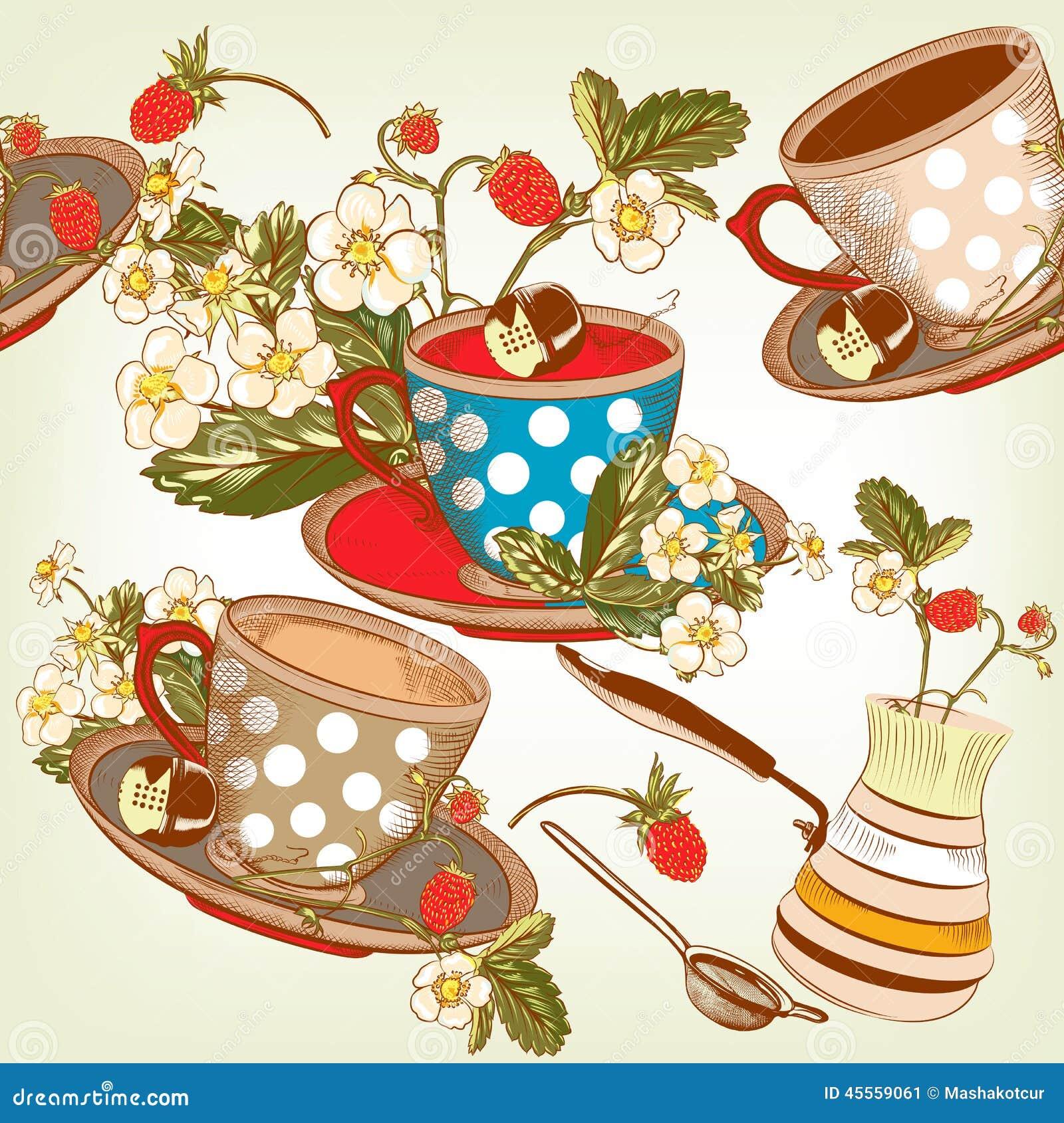 vintage tea cup wallpaper - photo #13