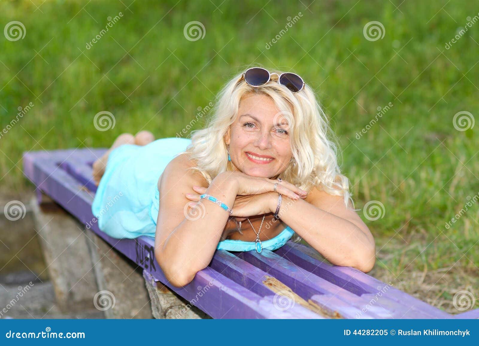 Mature blonde girl