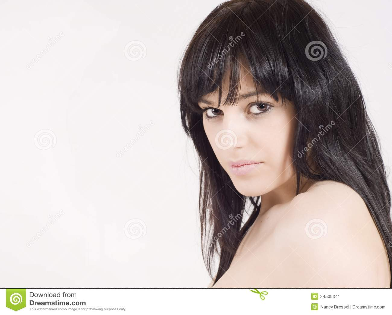 Beautiful, sensual young woman looking