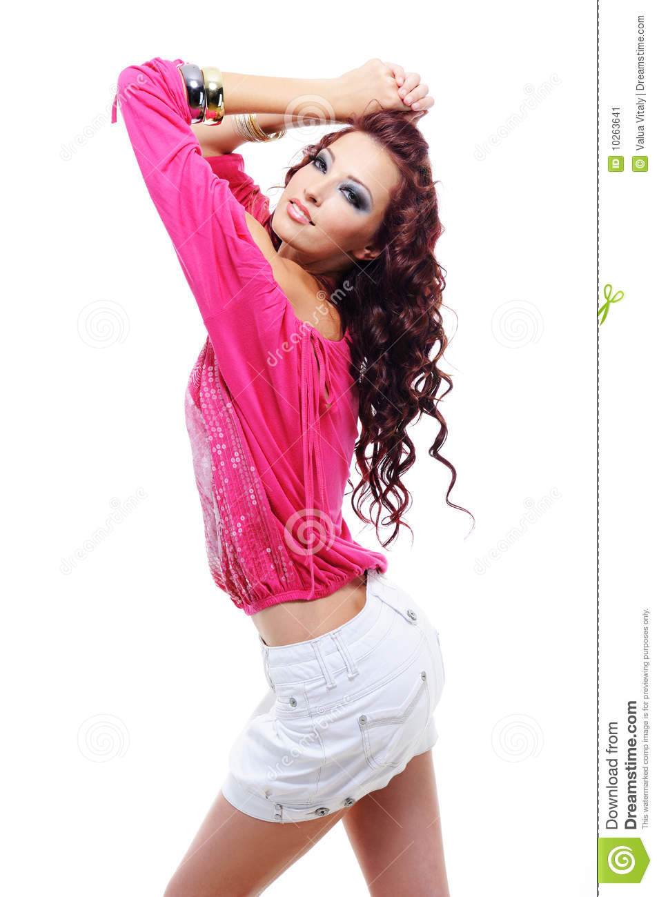 Beautiful Sensuality Teen Girl With Long Hair: Beautiful And Sensuality Woman Stock Image