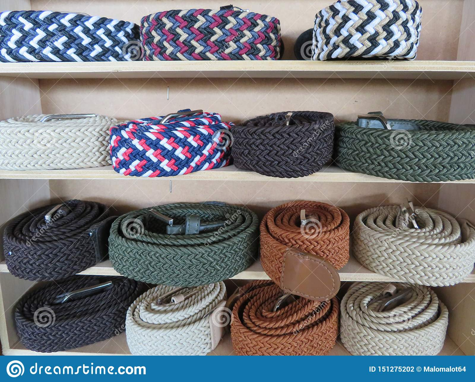 Beautiful set of belts of different models and colors