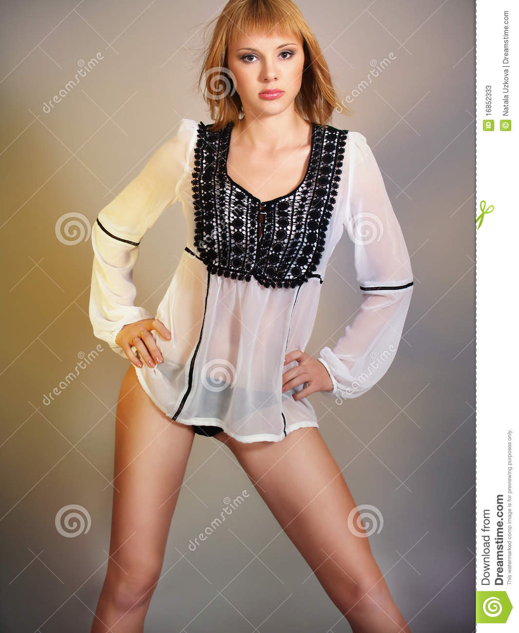 Woman In Transparent Blouse Photo 58