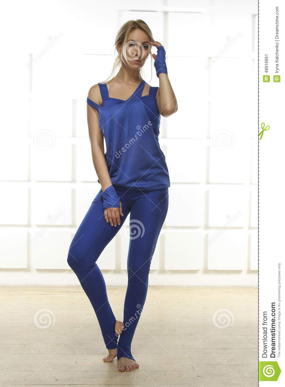 Beautiful Sexy Blonde Perfect Athletic Slim Figure Engaged ...