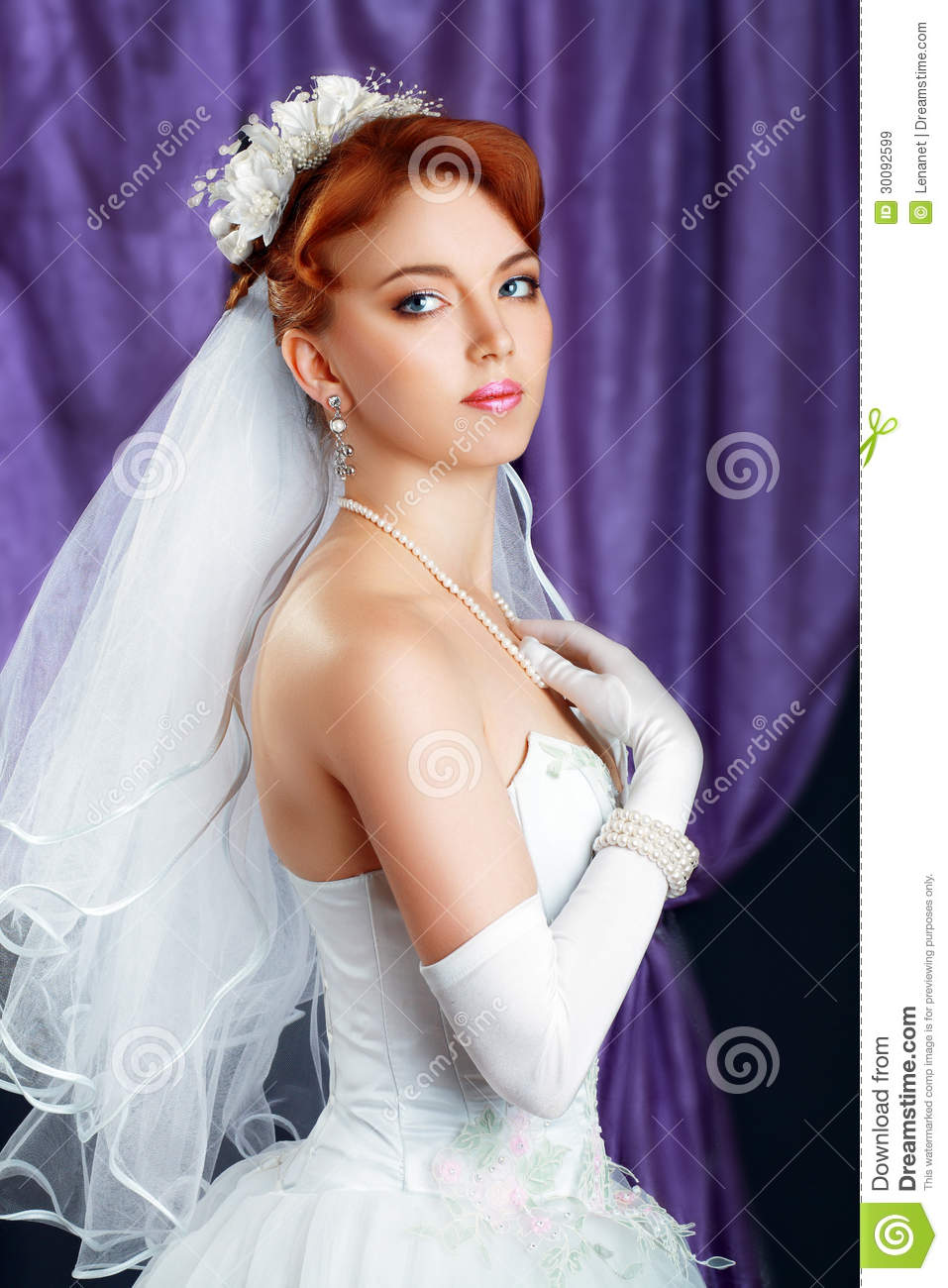 Bride Red Haired Stock Image Image Of Face Person Ceremony