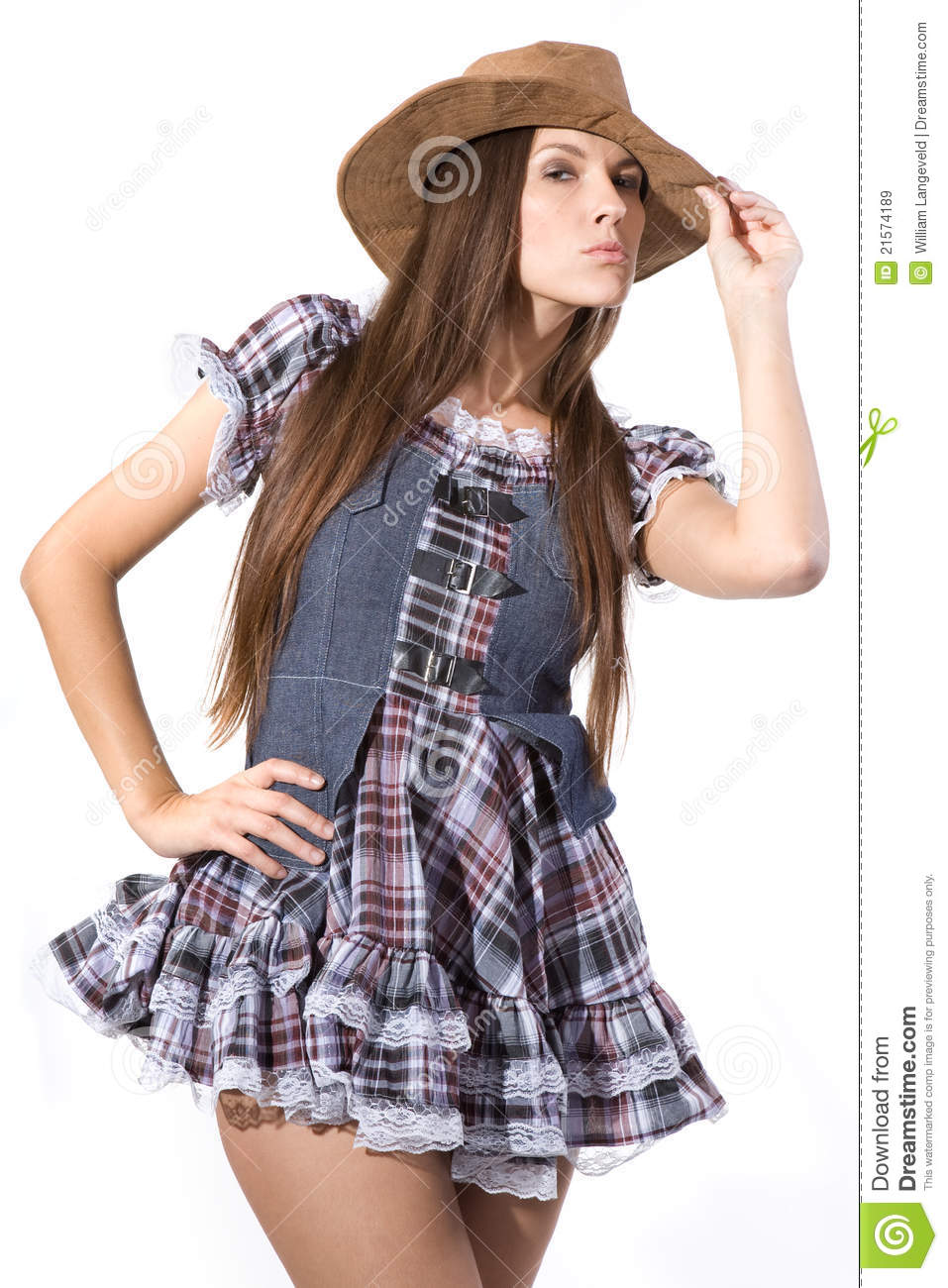 Beautiful Country And Western Girl Stock Image - Image Of -4197