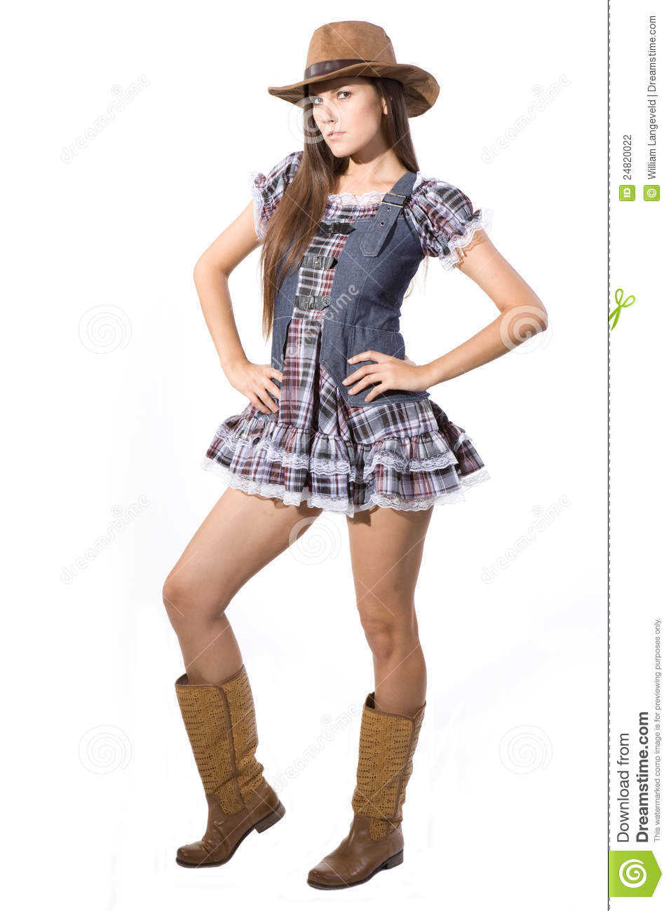 Beautiful Country And Western Girl Stock Photo - Image Of -4516