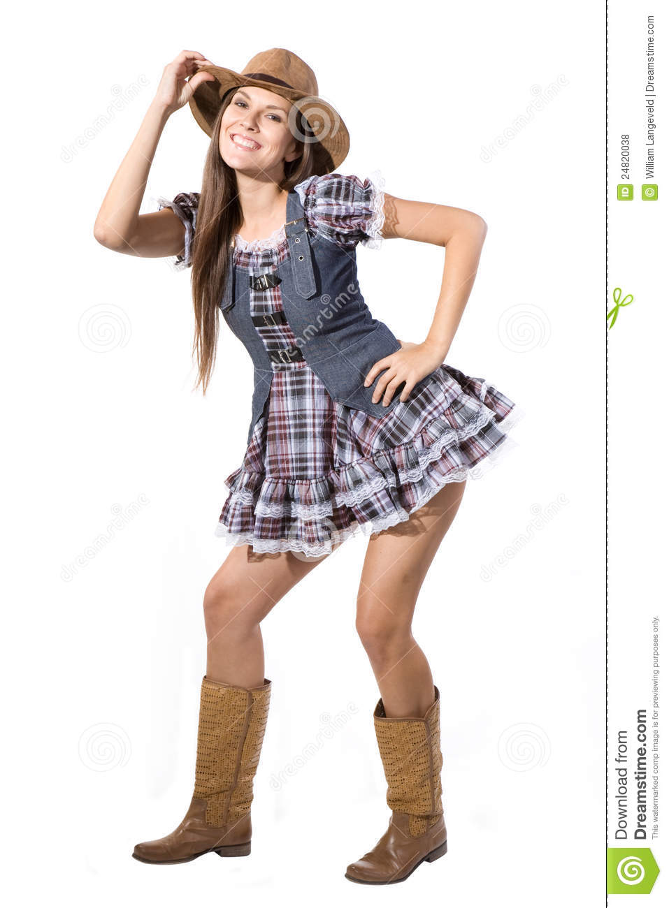 Beautiful Sexy Country And Western Girl Royalty Free Stock -8673