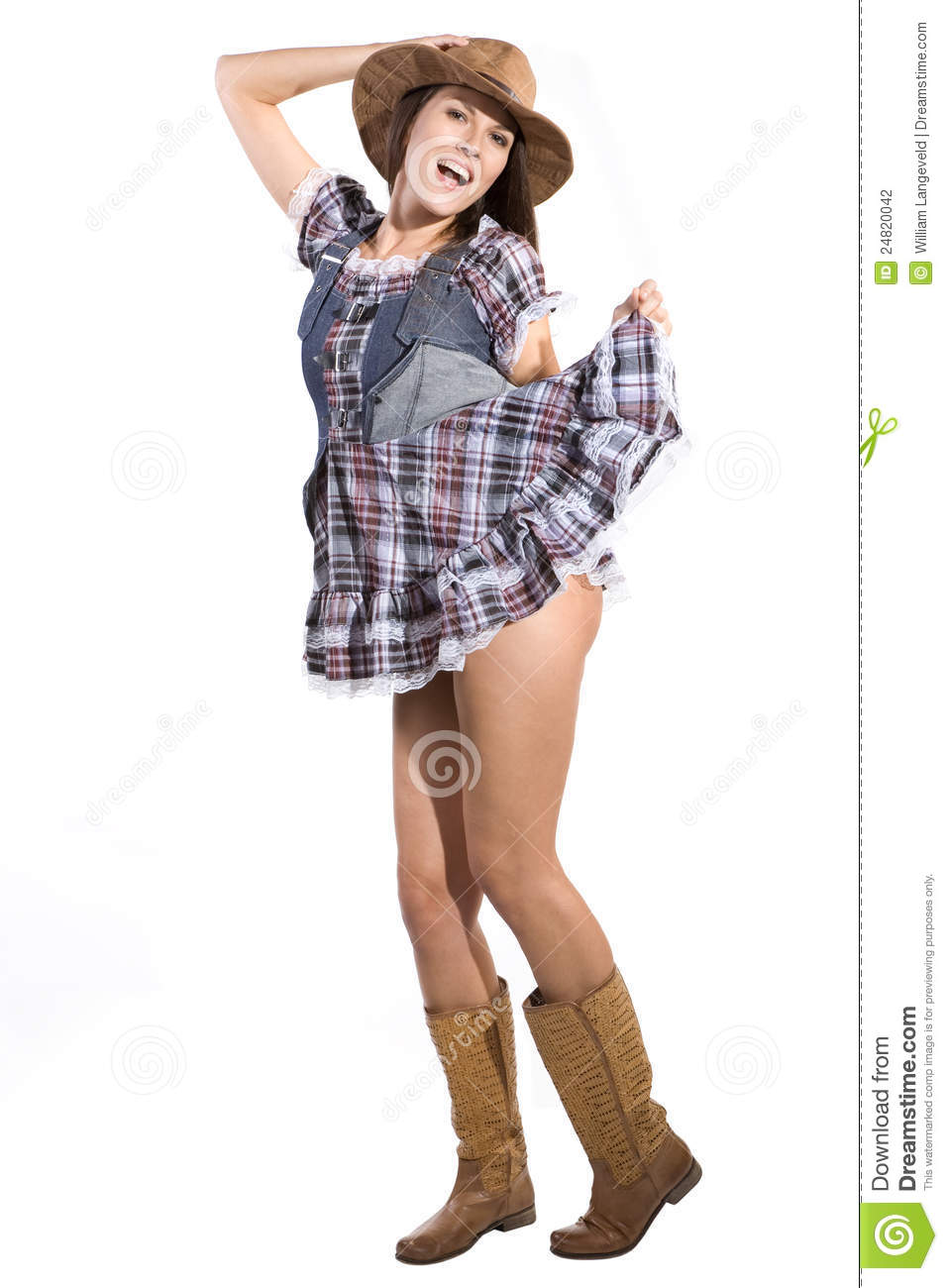 Beautiful Country And Western Girl Stock Photo - Image Of -6126