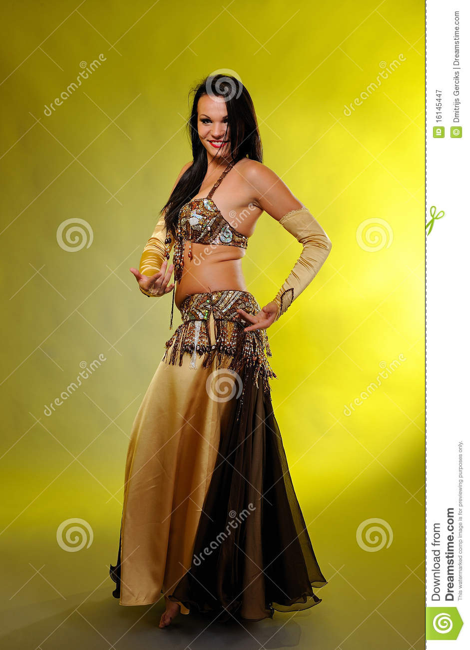Beautiful Dancer Woman In Bellydance Costume