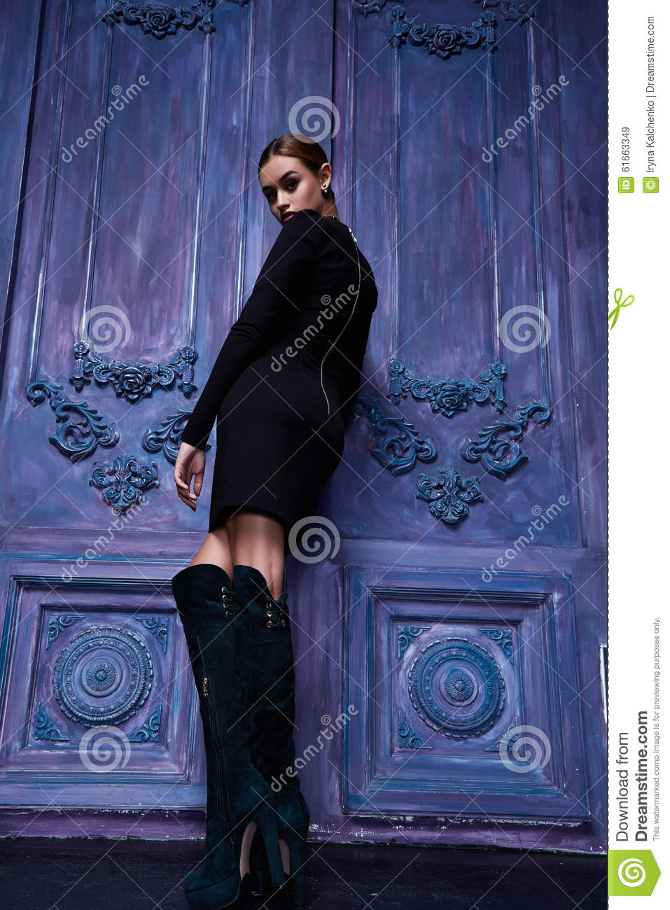 Beautiful Sexy Woman Collection Clothes Business Fashion Style Stock Photo Image 61663349