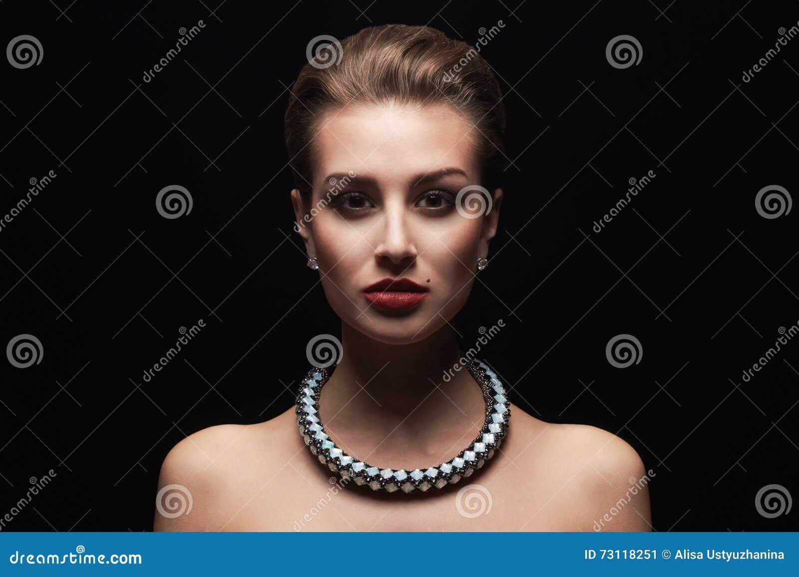 Beautiful Woman In Jewelry Stock Image Image Of Graceful 73118251