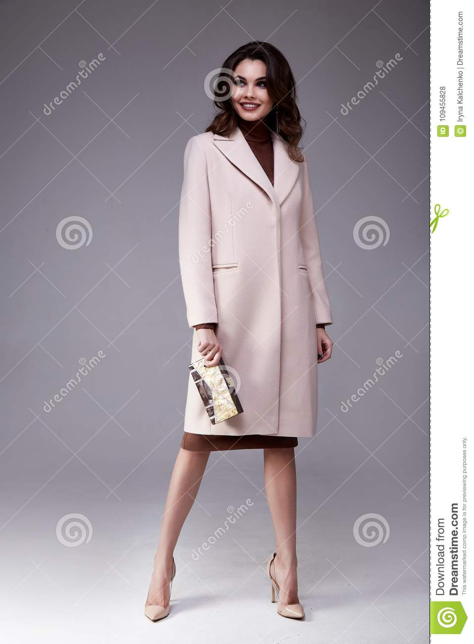 Beautiful Woman Wear Clothes For Businesswoman Office Style Stock