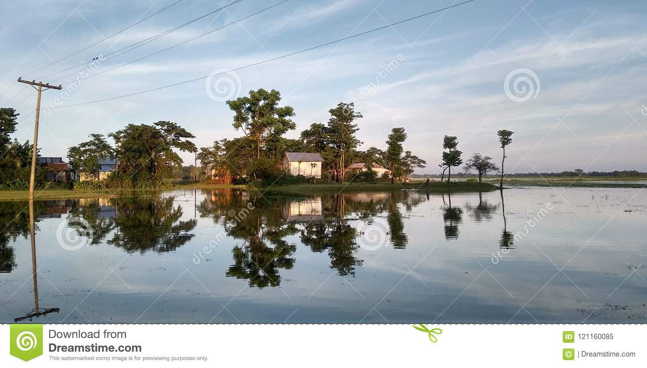 Beautiful Shadow on water stock image  Image of scenery - 121160085