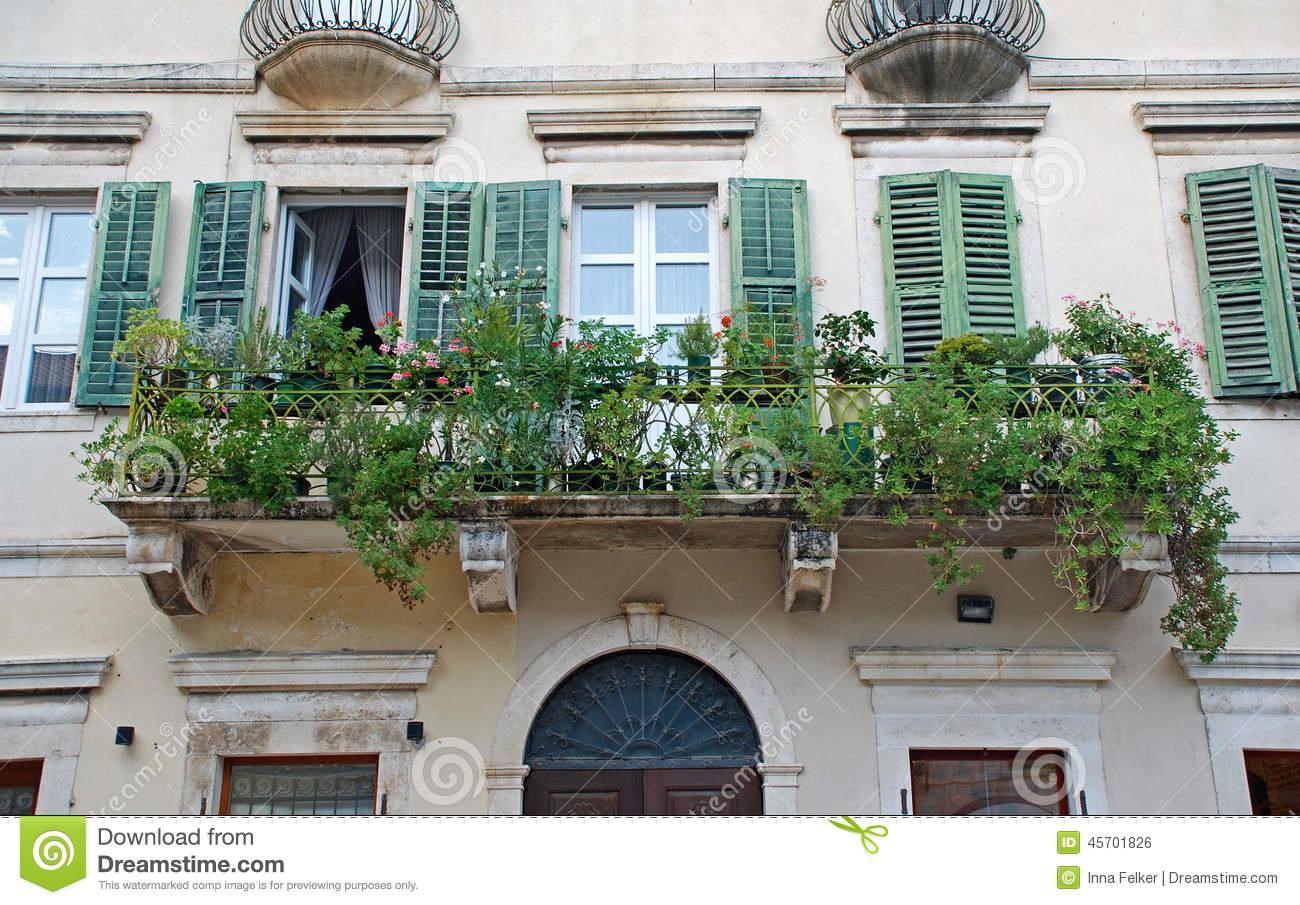 Beautiful Shatter Windows And Balcony In Mediterranean