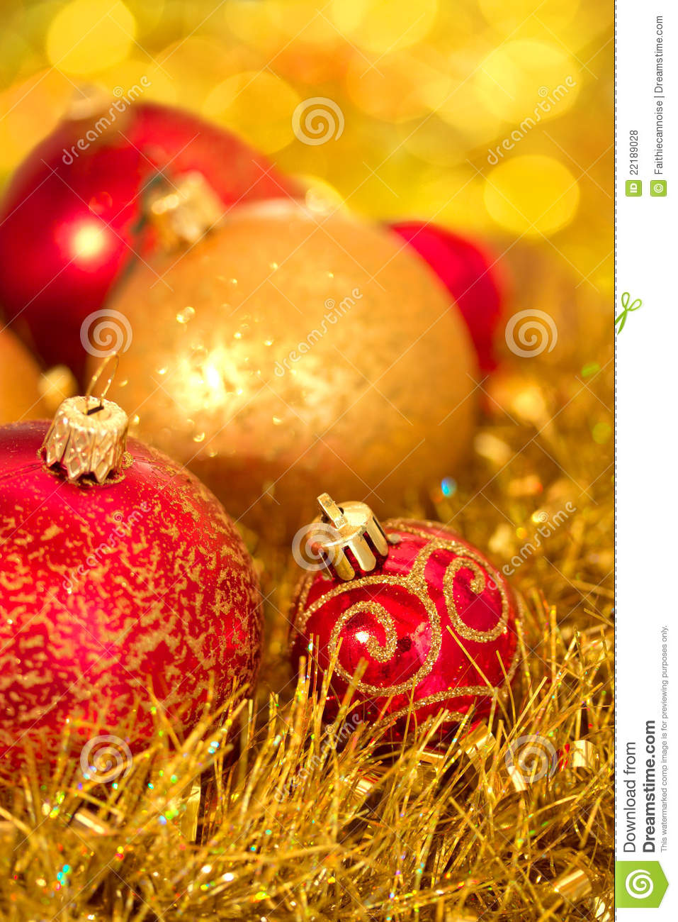 Beautiful Shining Christmas Ornaments Stock Photo - Image ...