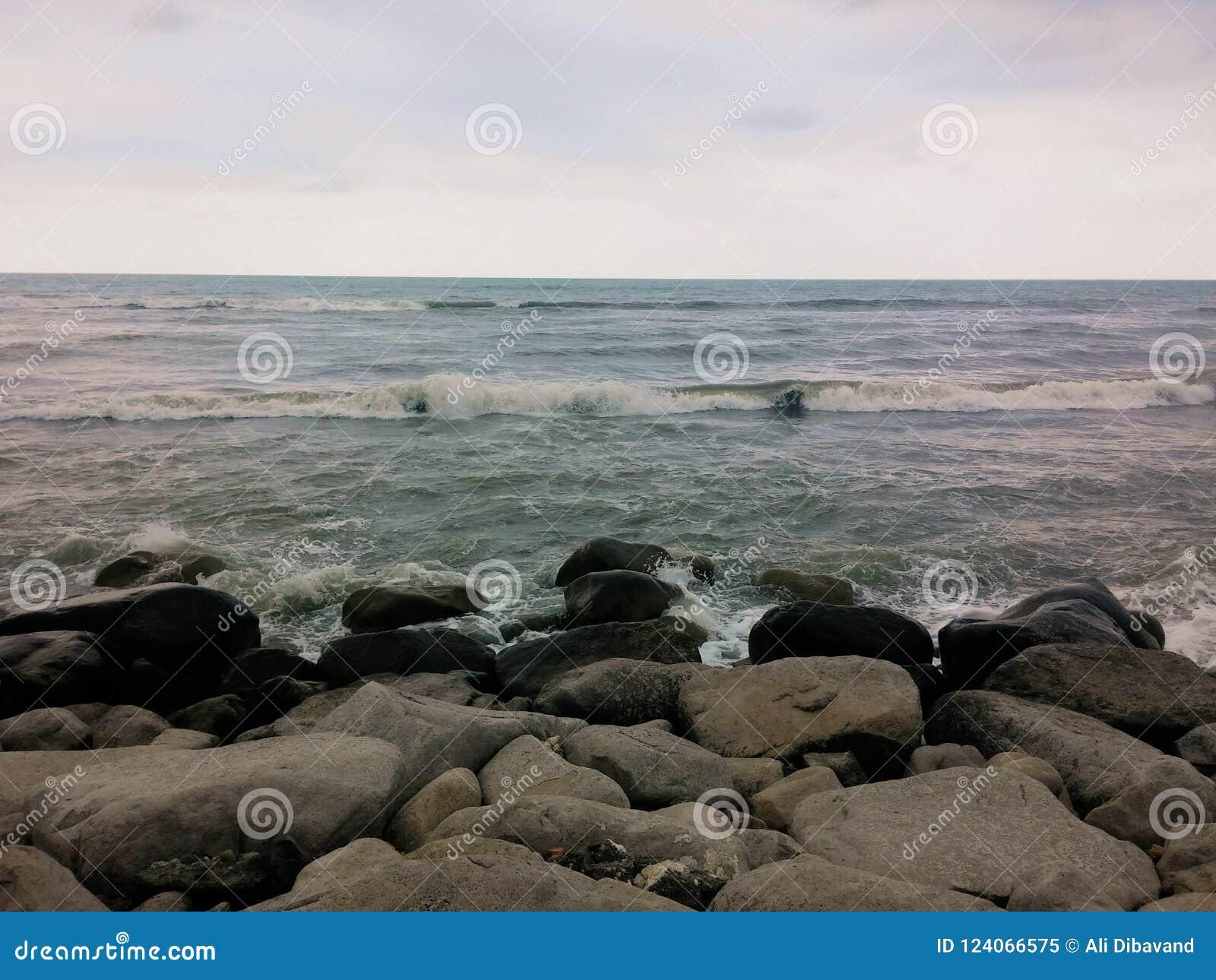 Beautiful Shore of Caspian Sea