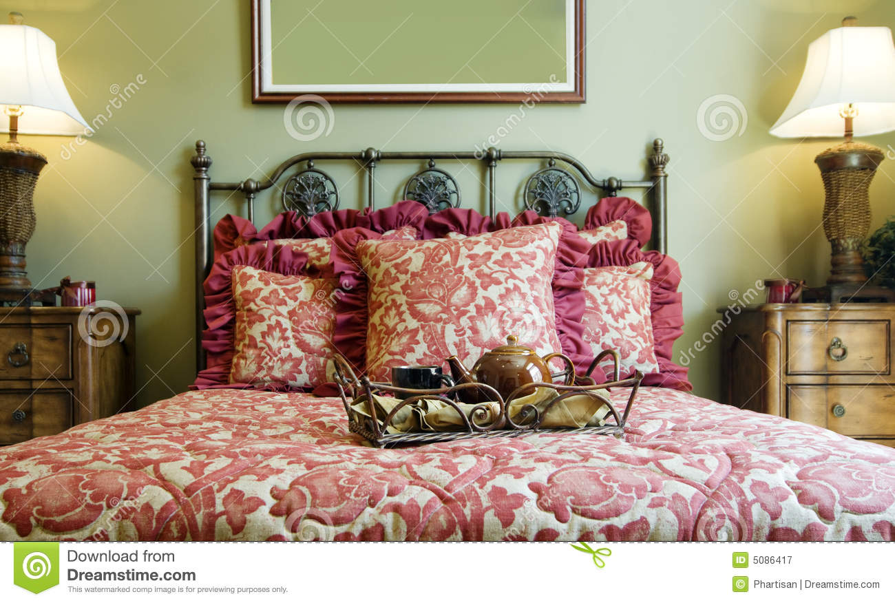 Beautiful showcase bedroom interior royalty free stock for Beautiful bedroom interior