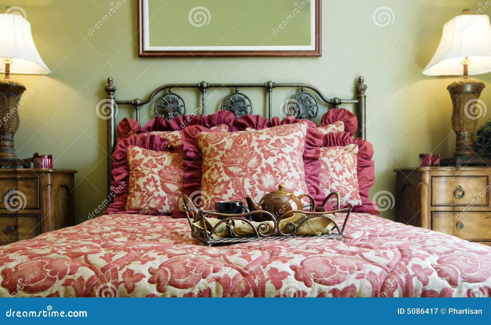Beautiful showcase bedroom interior royalty free stock for Beautiful bedroom interior