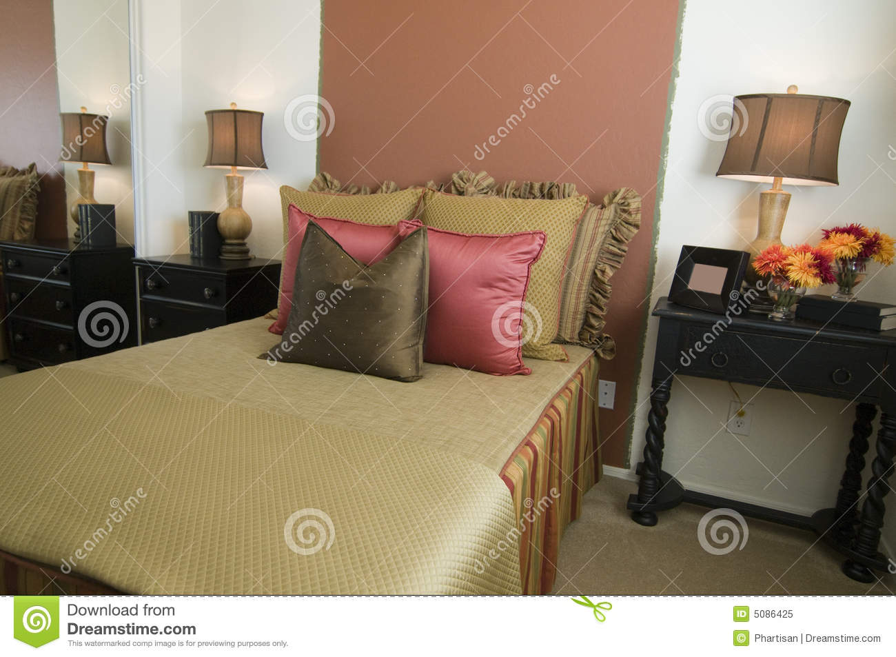 Beautiful showcase bedroom interior royalty free stock for Bedroom showcase