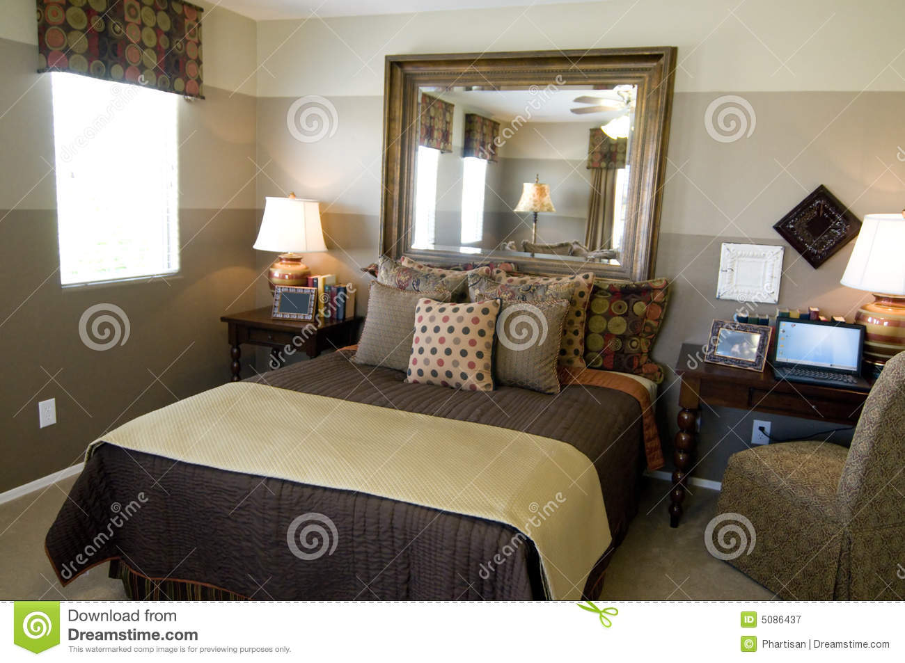 Beautiful showcase bedroom interior stock image image for Beautiful bedroom interior