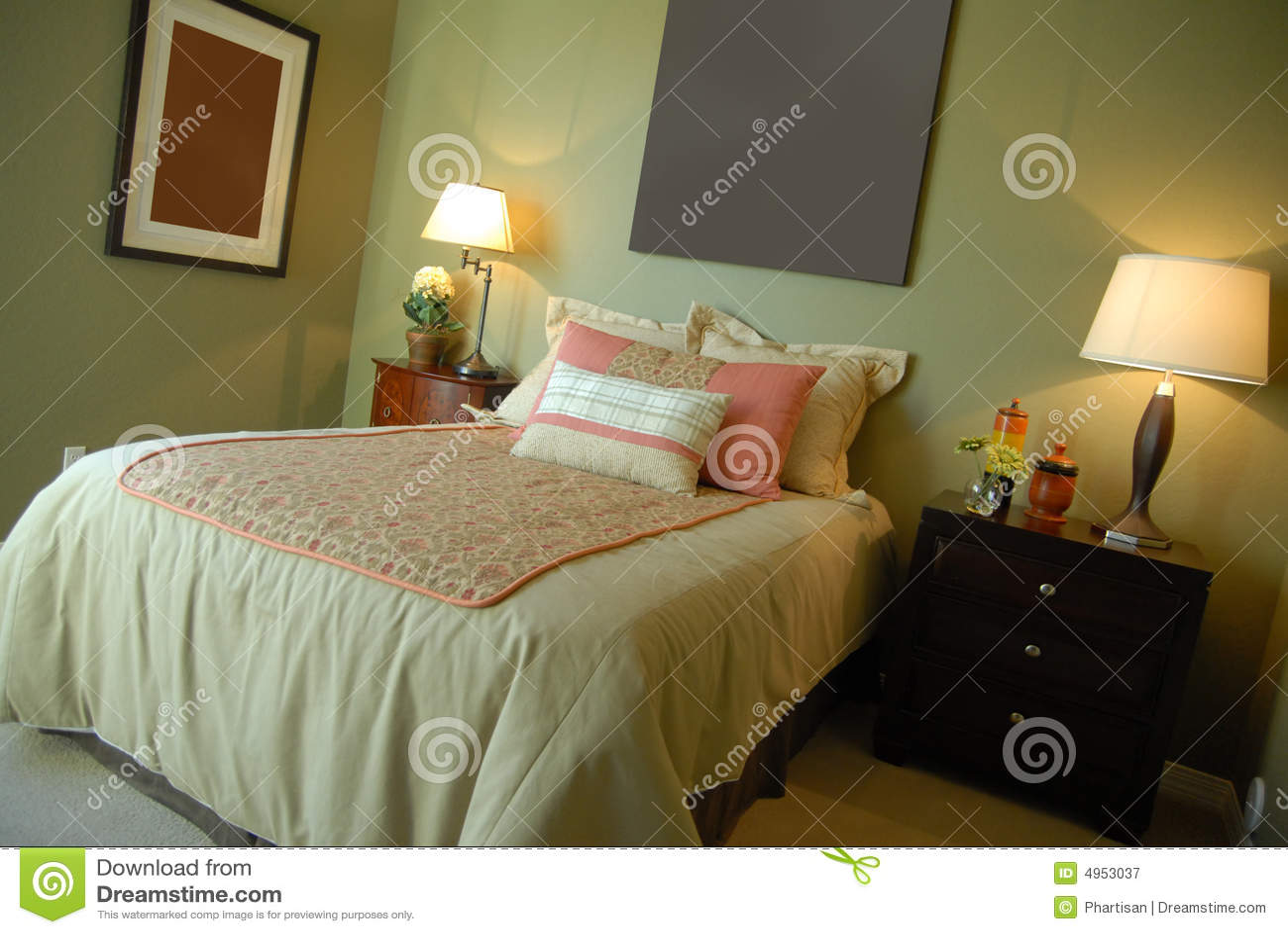 Beautiful bedroom interior design royalty free stock photo for Beautiful bedroom interior