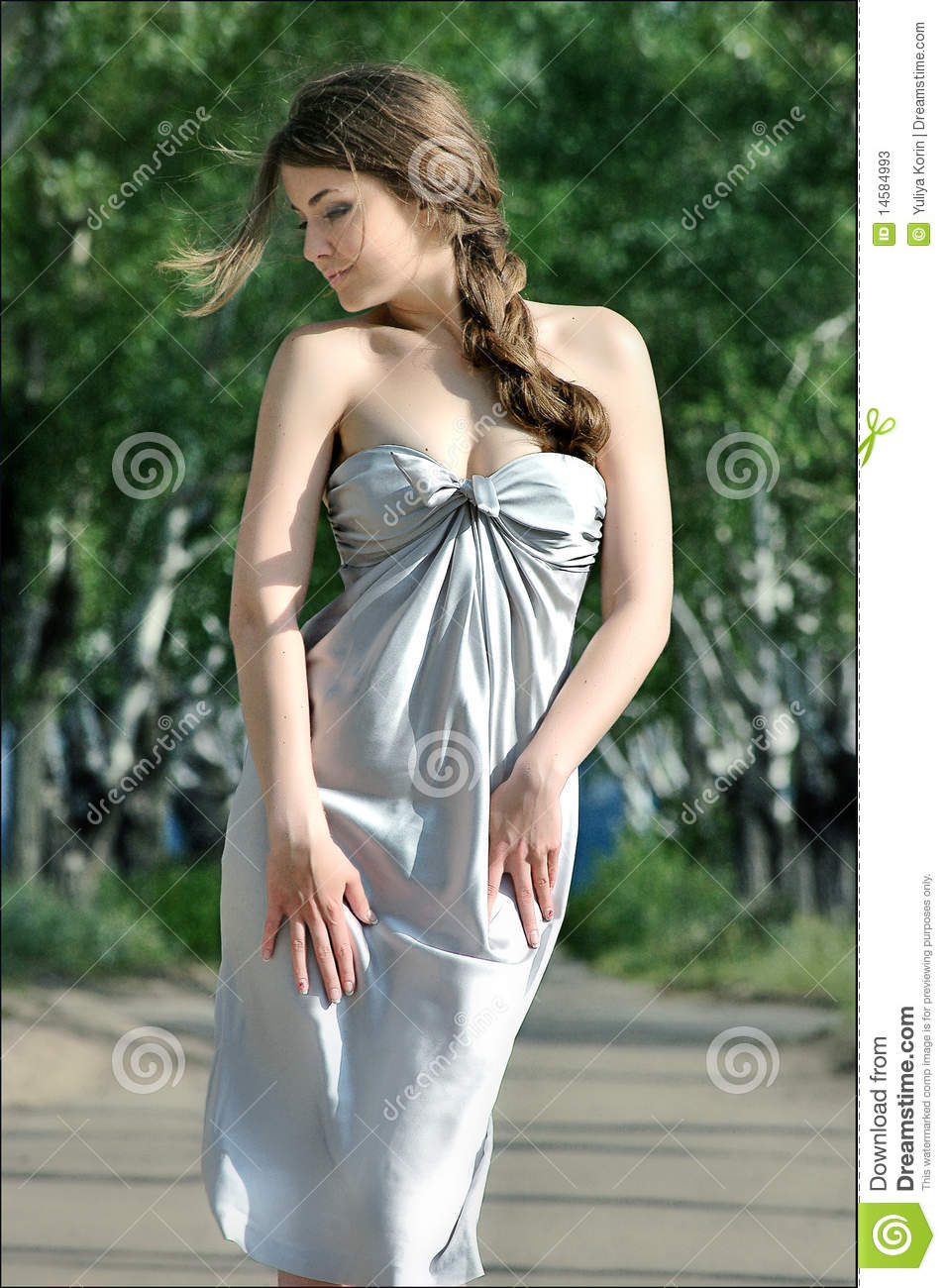 Beautiful Shy Girl With A Braid Of Hair Stock Image Image Of Female Fantasy 14584993
