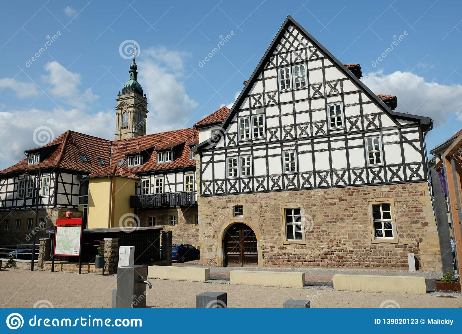 Beautiful sights in the city. Travel Europe. Frankfurt Germany old building