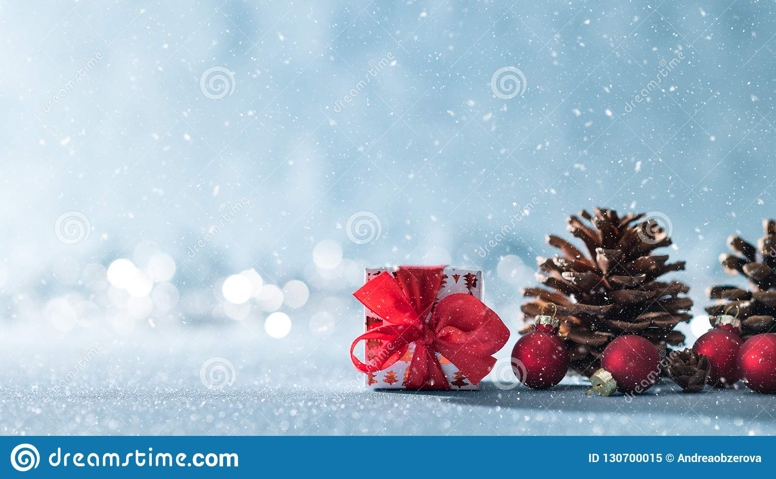 Beautiful Simple Christmas Background With Copy Space. Cute