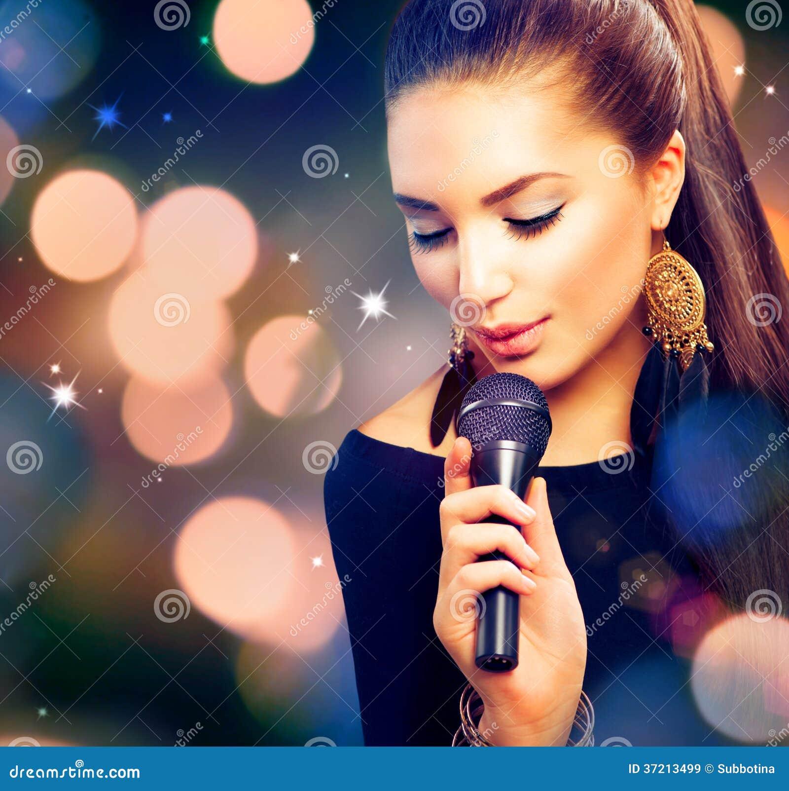 beautiful singing girl royalty free stock images   image