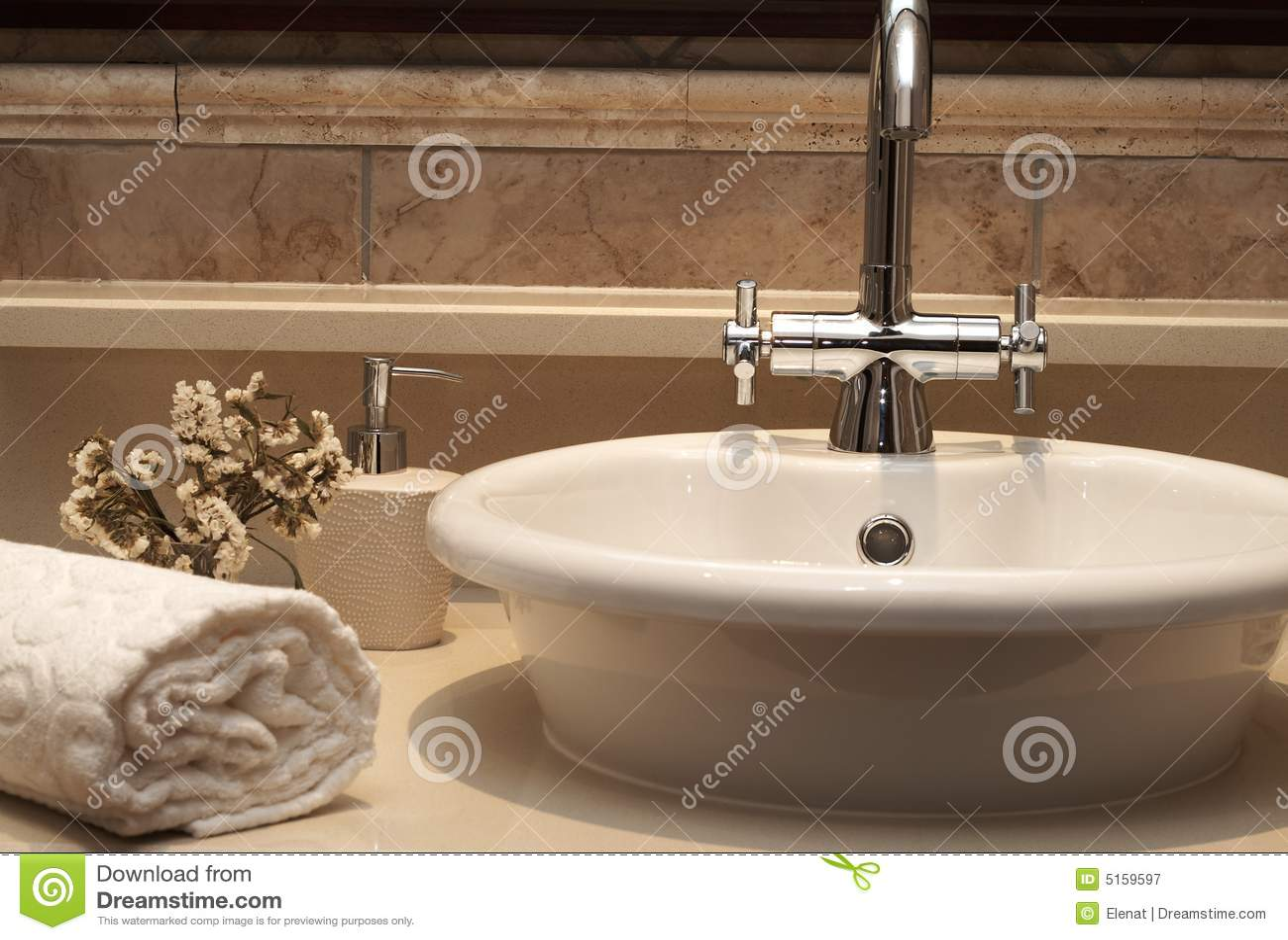 Beautiful Sink In A Bathroom Royalty Free Stock